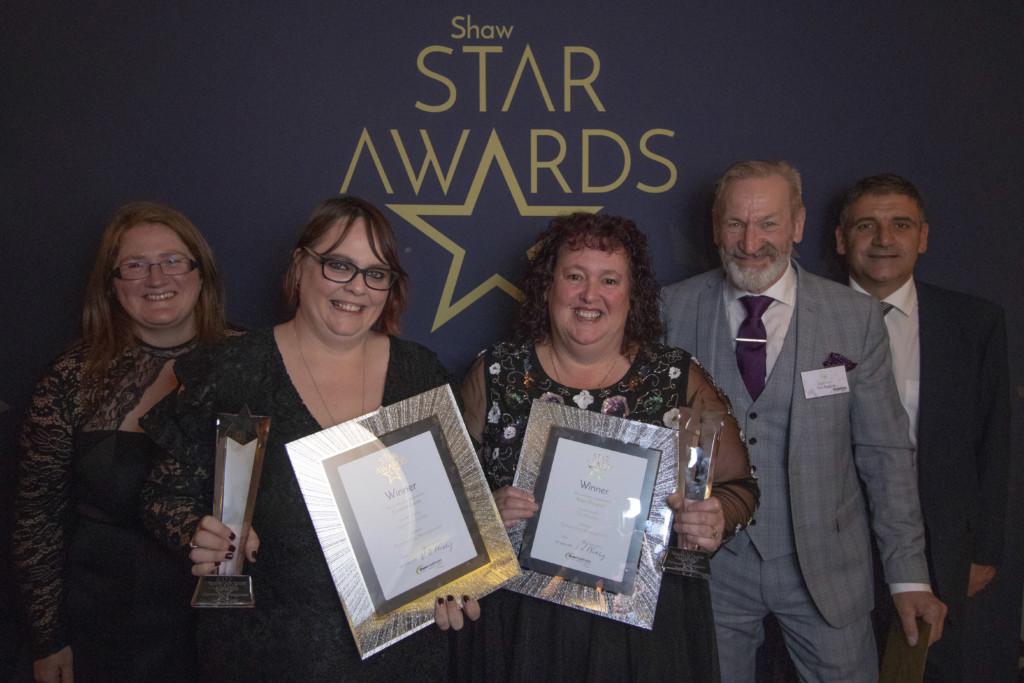 1-Zarah-Conway-Shaw-healthcare-award-winners-Caroline-Carter-and-Angie-Douglass-Ken-Rawlins-and-Jamie-Griggs-Pensworth-Dairies