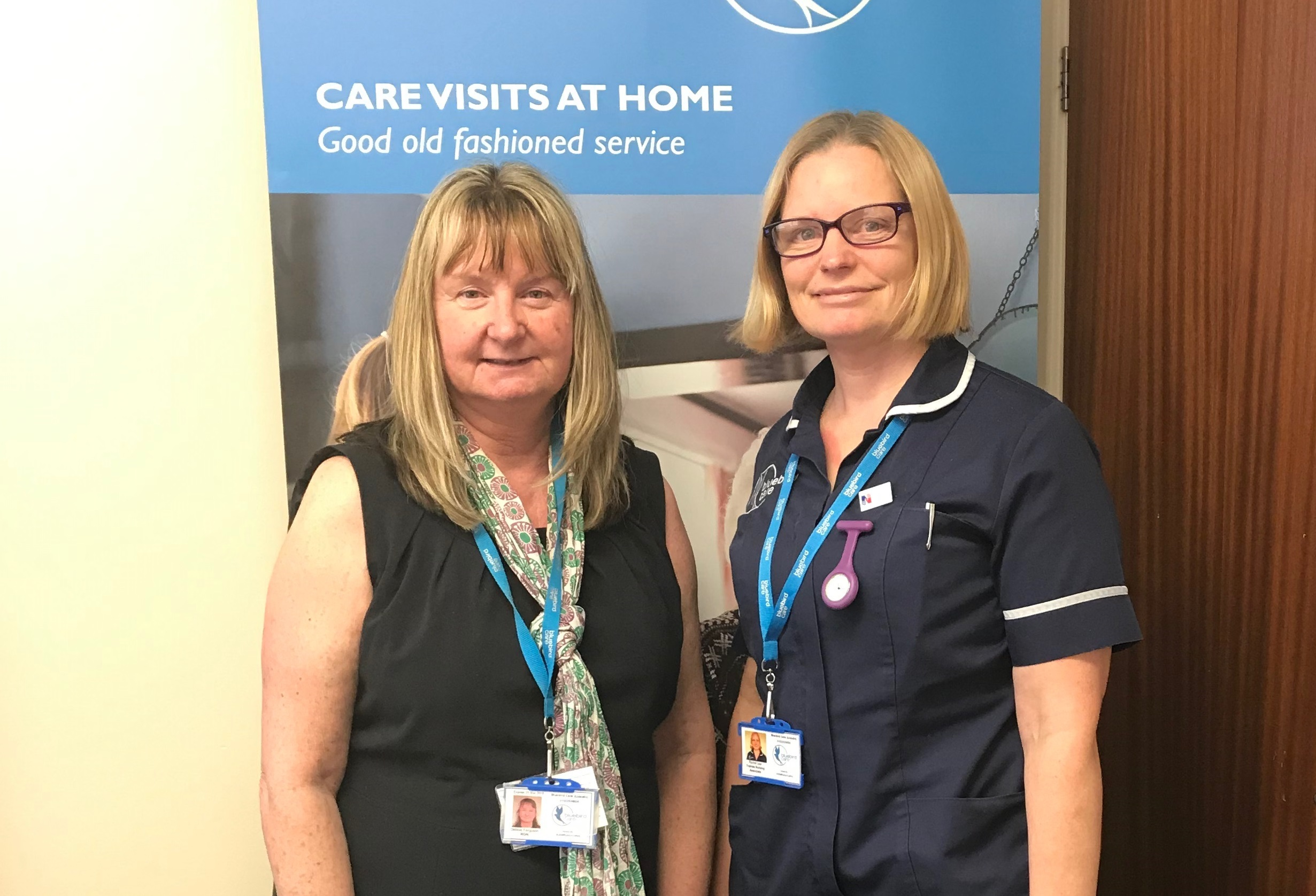 Bluebird Care Lincoln Debbie Ferguson and Rachel Lear cropped