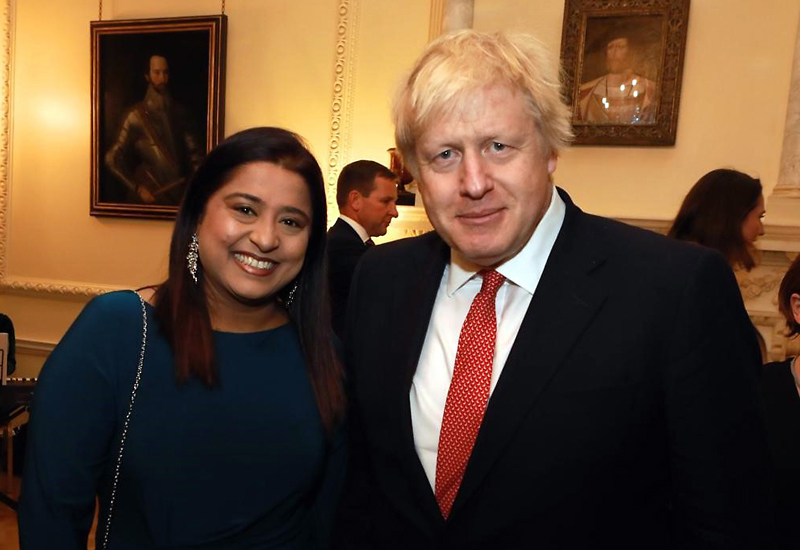 Noorina Boodhooa meets Boris Johnson cropped