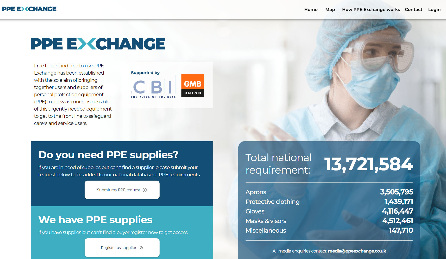 PPE exchange