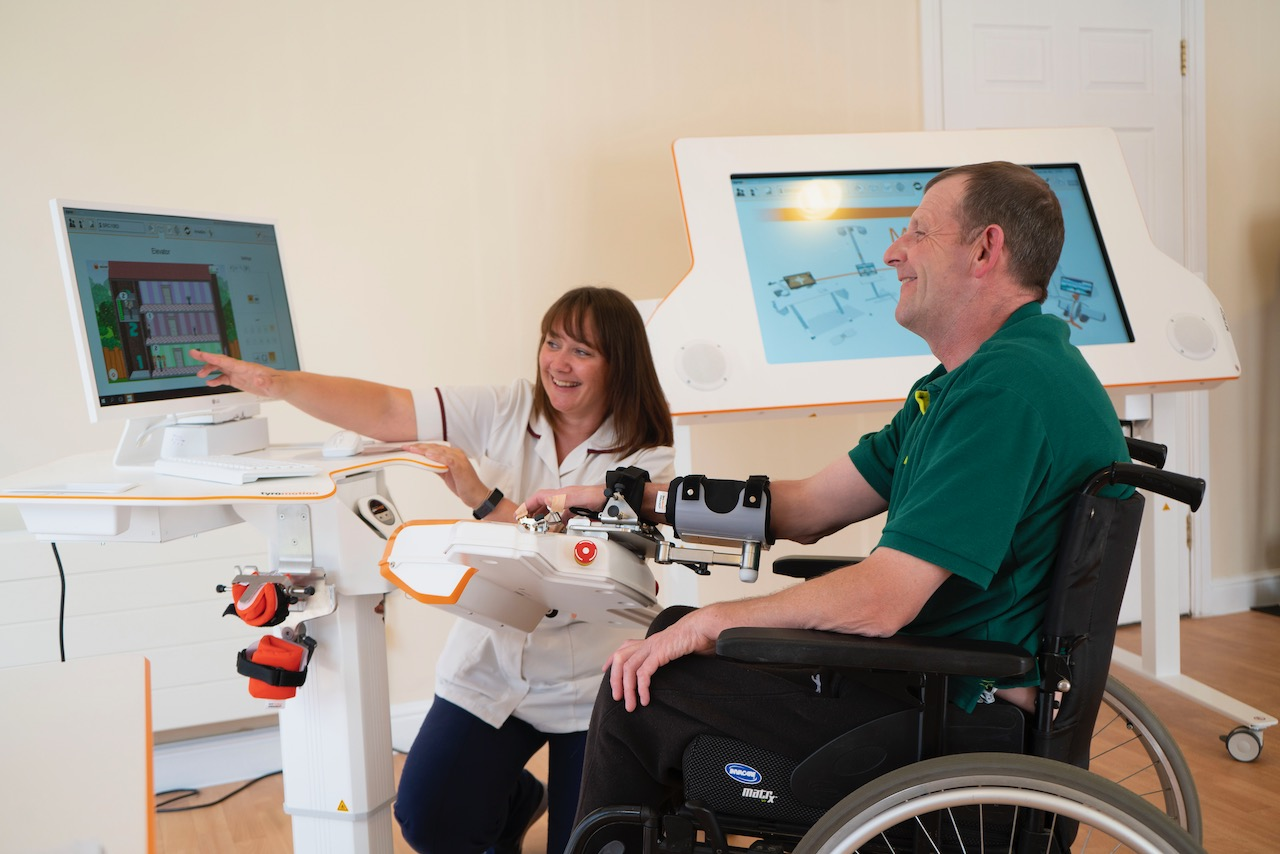 Askham Rehab is a specialist rehabilitation service incorporating cutting-edge robotics and sensor assisted technology