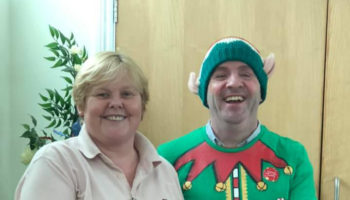 David dressed as an elf cropped