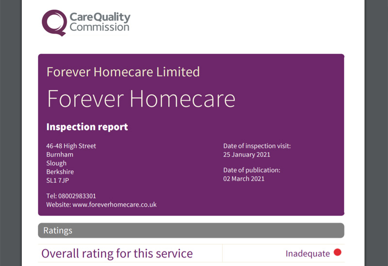 inadequate home care