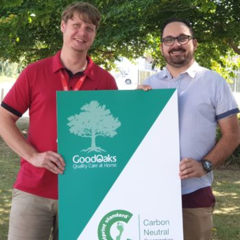 L-R – Co-founders of Good Oaks Home Care Salisbury and East Dorset Adam Downer and Sam Jones. Credit Good Oaks Home Care