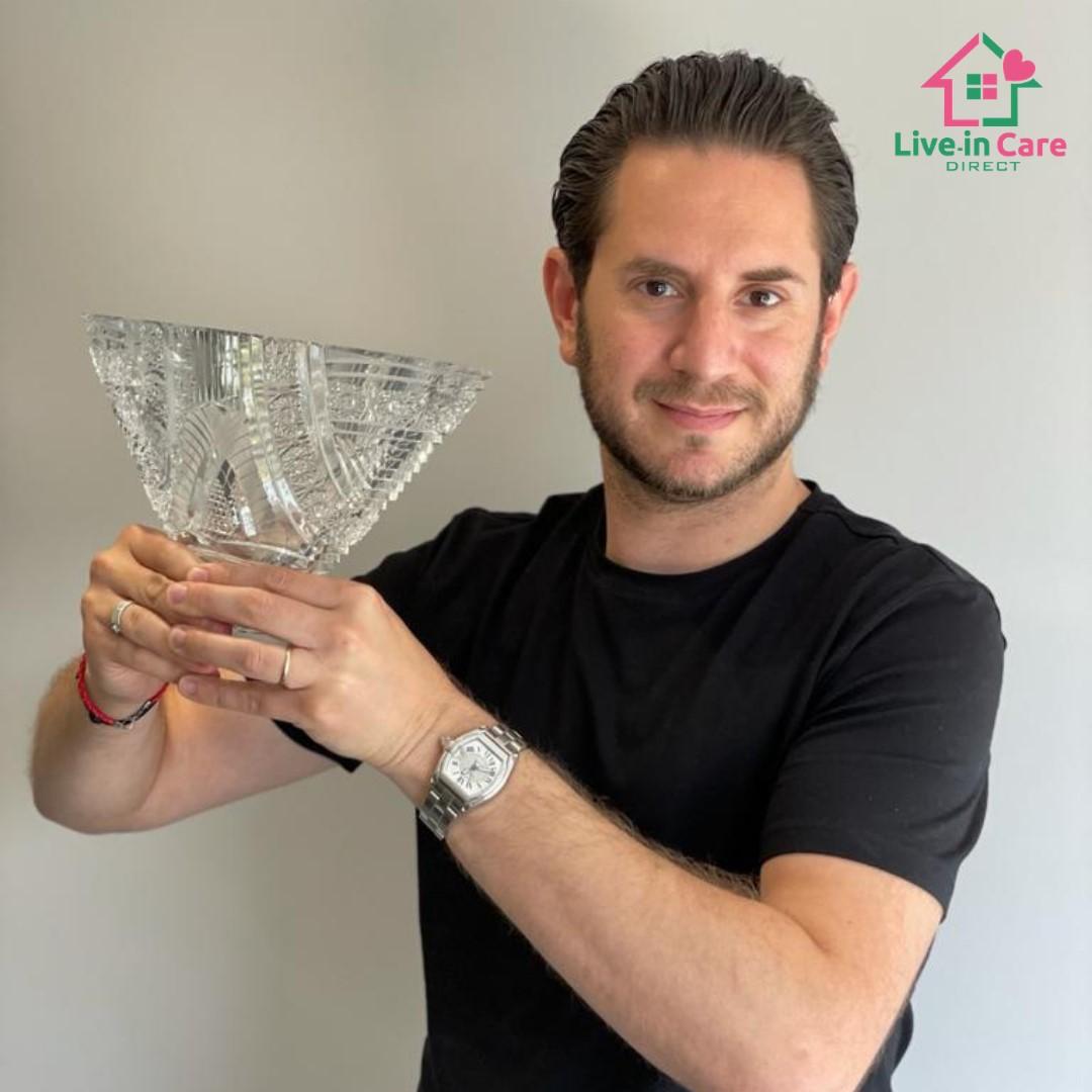 Jason with award
