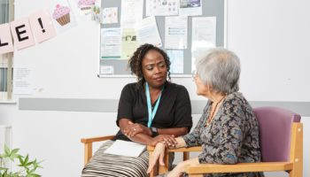 Antonia and Mirta – Admiral Nurse. Credit Dementia UK