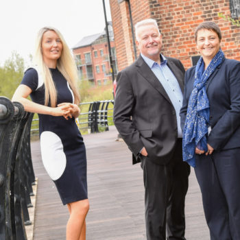 Image shows Kate Prince (left) with Andy (centre) and Jo Boardman (right)