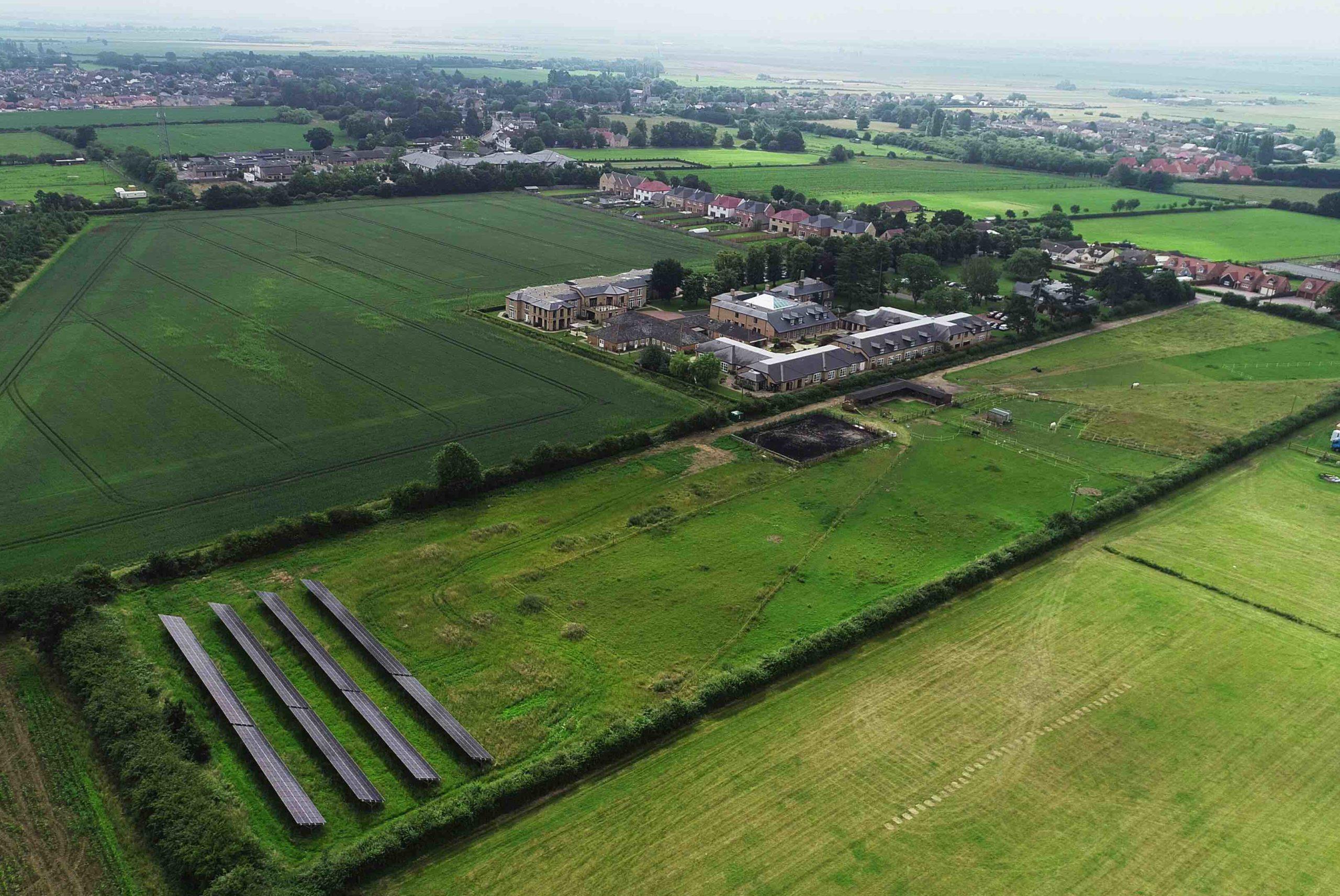 The new solar field at Askham Village Community