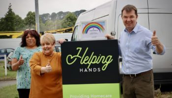 Community Champion Award for Helping Hands from MP Guy Opperman-min